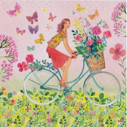 Mila Marquis - Bike basket with flowers