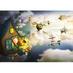 Ila Illustrations - Flying Town