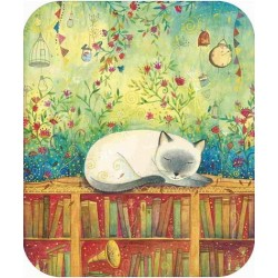 Jehanne Weyman -  Cat on top of the bookcase
