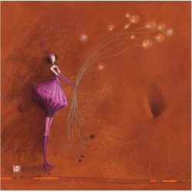 Gaelle Boissonnard - Purple dress