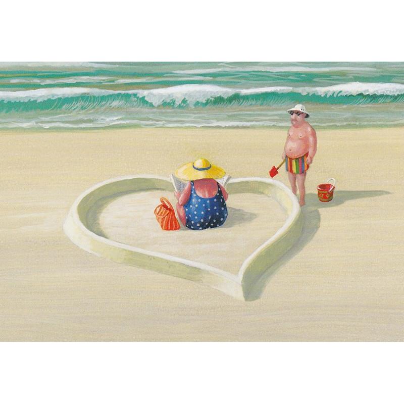 Heartcastle on the beach