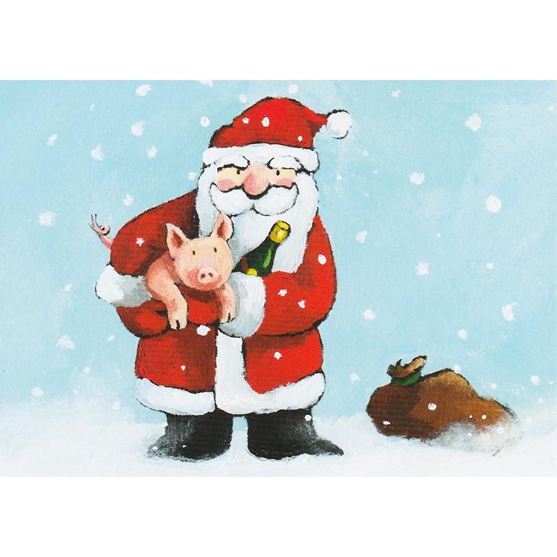 Santa with pig