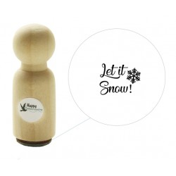 Mini stempel - Let it snow