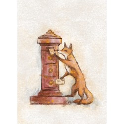 Veera Aro's world of animals - Foxy penpal