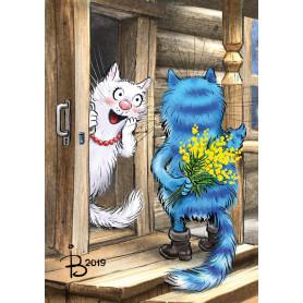 Rina Zeniuk Blue Cats - It is a date
