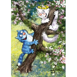 Rina Zeniuk Blue Cats - Tree