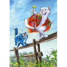 Rina Zeniuk Blue Cats - Balancing