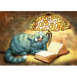 Rina Zeniuk Blue Cats - Reading