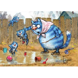 Rina Zeniuk Blue Cats - Mud pool