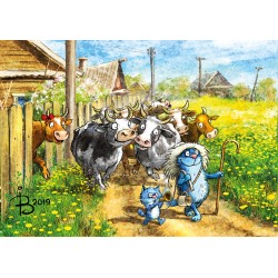Rina Zeniuk Blue Cats - Cows