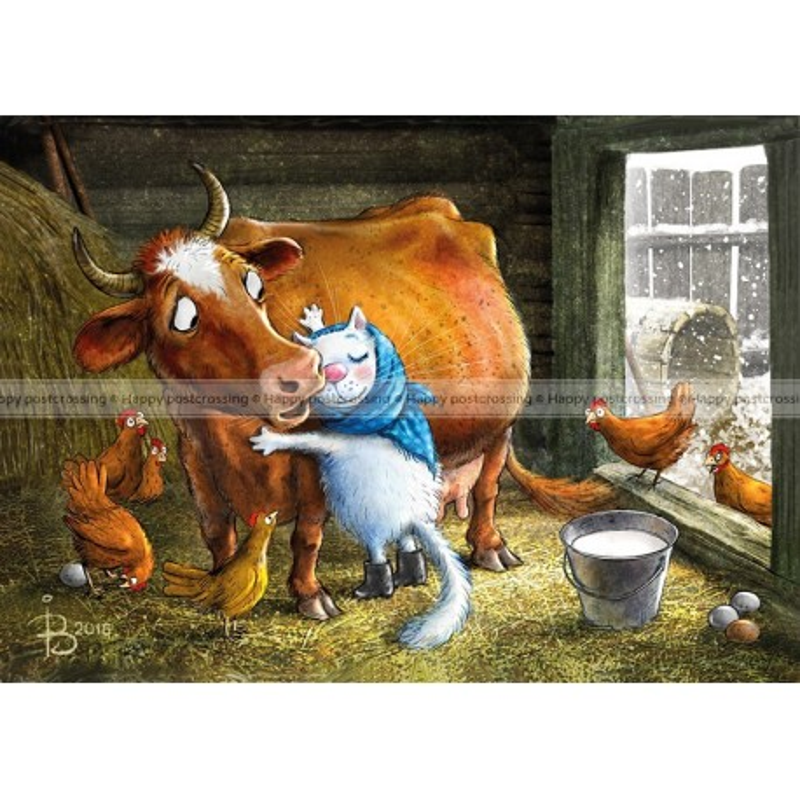 Rina Zeniuk Blue Cats - Farm life