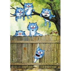 Rina Zeniuk Blue Cats - Curious