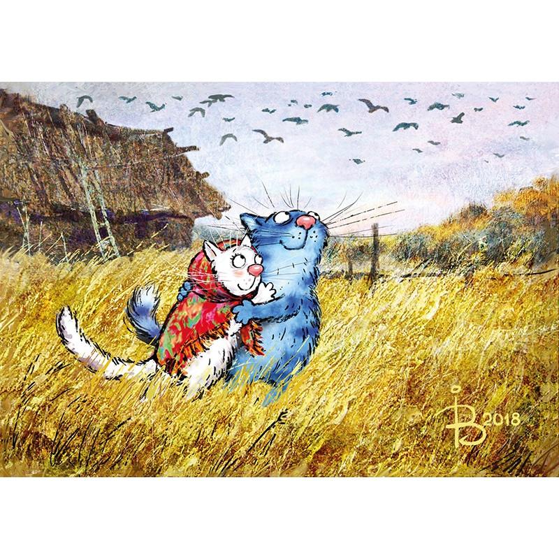 Rina Zeniuk Blue Cats - Birds
