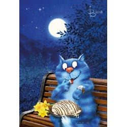 Rina Zeniuk Blue Cats - Date night