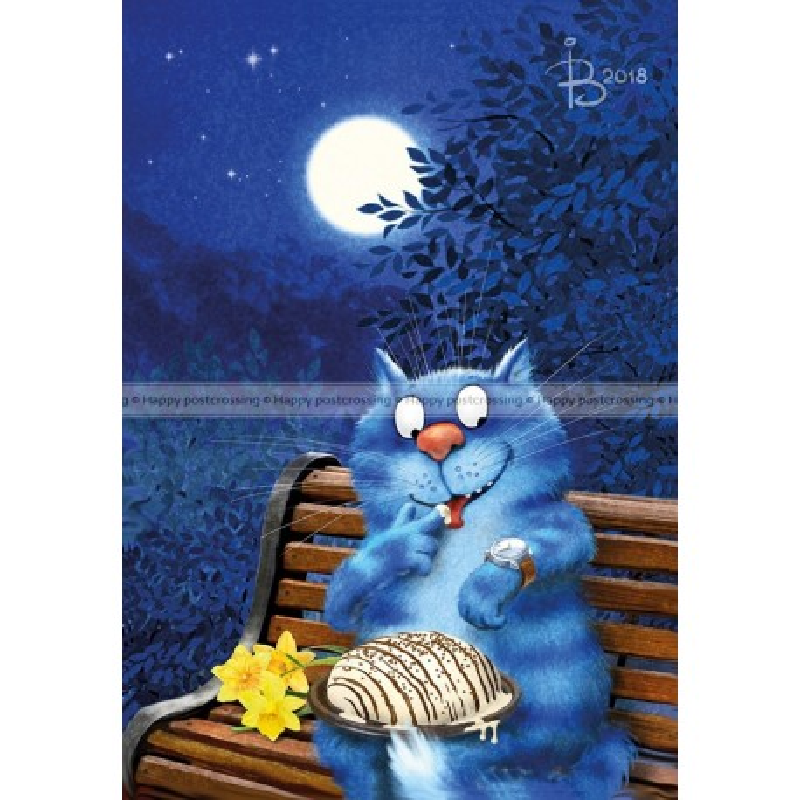 Rina Zeniuk Blue Cats - Date night