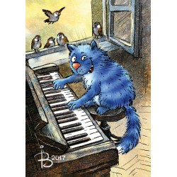 Rina Zeniuk Blue Cats - Piano