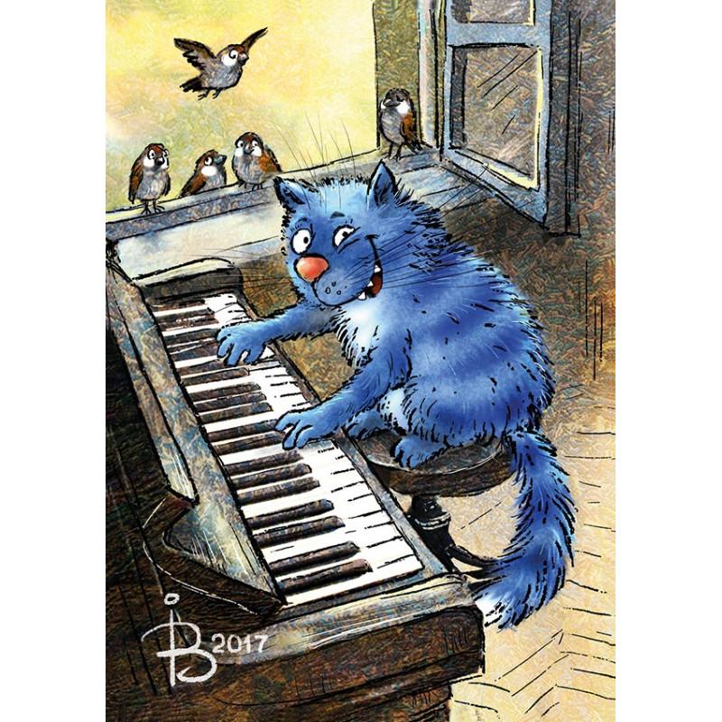 Rina Zeniuk Blue Cats - Piano