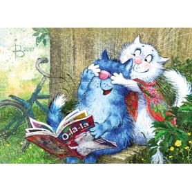 Rina Zeniuk Blue Cats - Suprise