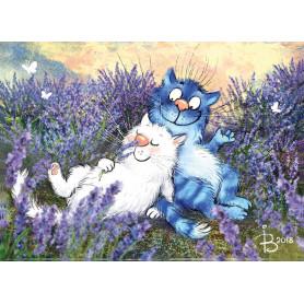 Rina Zeniuk Blue Cats - Lavender