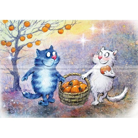 Rina Zeniuk Blue Cats - Fruits