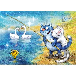 Rina Zeniuk Blue Cats - Yellow fish