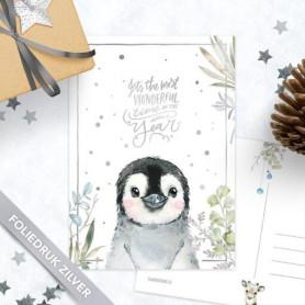 Studio Draak - Pinguïn (zilverfolie)
