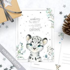 Studio Draak - Sneeuwluipaard (zilverfolie)