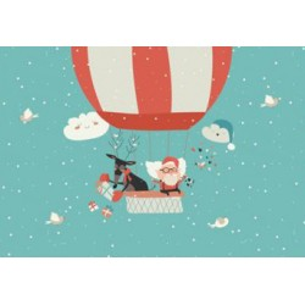 Santa Claus in Balloon