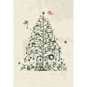 Sketch of a Christmas tree