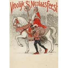 Sinterklaas illustratie 1950