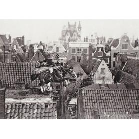 Fotomontage Sinterklaas met zijn paard