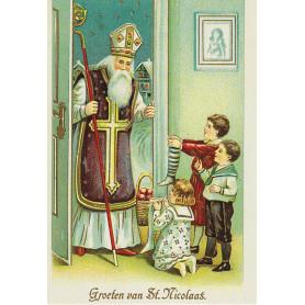 Prentbrief illustratie Sinterklaas