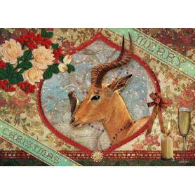 Antilope met kerst